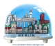Traditional non-musical snow globe made of plastic without any 18 note musical mechanism - Item # for this non-musical snow globe made in Germany : 3292