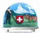 Traditional non-musical snow globe made of plastic without any 18 note musical mechanism - Item # for this non-musical snow globe made in Germany: 2960