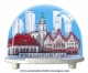 Traditional non-musical snow globe made of plastic without any 18 note musical mechanism - Item # for this non-musical snow globe made in Germany: 3181
