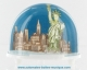 Traditional non-musical snow globe made of plastic without any 18 note musical mechanism - Item # for this non-musical snow globe made in Germany: 2959
