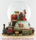 Musical snow globe made of polystone with traditional 18 note spring musical mechanism - Item # for this musical snow globe : 14181