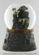 Musical snow globe made of polystone with traditional 18 note spring musical mechanism - Item # for this musical snow globe : 14176