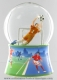 Musical snow globe made of resin with traditional 18 note spring musical mechanism - Item # for this musical snow globe : 25211