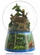 Musical snow globe made of resin with traditional 18 note spring musical mechanism - Item # for this musical snow globe : 25212