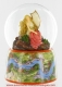 Musical snow globe made of resin with traditional 18 note spring musical mechanism - Item # for this musical snow globe : 25208