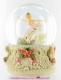 Musical snow globe made of polystone with traditional 18 note spring musical mechanism - Item # for this musical snow globe : 25209