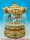 Musical snow globe made of polystone with traditional 18 note spring musical mechanism - Item # for this musical snow globe : 25214