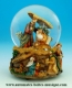 Christmas musical snow globe made of polystone with traditional 18 note musical mechanism - Item# for this Christmas musical snow globe : 50054