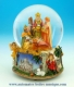 Christmas musical snow globe made of polystone with traditional 18 note musical mechanism - Item# for this Christmas musical snow globe : 50055