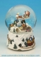 Christmas musical snow globe made of polystone with traditional 18 note musical mechanism - Item# for this Christmas musical snow globe : 47089