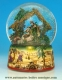 Christmas musical snow globe made of resin with traditional 18 note musical mechanism - Item# for this Christmas musical snow globe : 50044