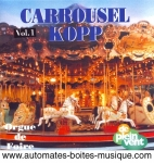 Audio CD of mechanical music instruments : audio CD of carousel organs - Item # of this audio CD of mechanical music instruments : CD-21