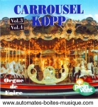 Audio CD of mechanical music instruments : audio CD of carousel organs - Item # of this audio CD of mechanical music instruments : CD-23