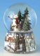 Christmas musical snow globe made of resin with traditional 18 note musical mechanism - Item# for this Christmas musical snow globe : 46069