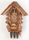 Hekas Black Forest Cuckoo Clock made of linden wood and entirely hand sculpted and painted - Item # for this Hekas Black Forest cuckoo clock: 3629/8