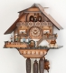 Hekas Black Forest Cuckoo Clock made of linden wood and entirely hand sculpted and painted - Item # for this Hekas Black Forest cuckoo clock: 3682/8 EX