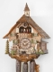 Hekas Black Forest Cuckoo Clock made of linden wood and entirely hand sculpted and painted - Item # for this Hekas Black Forest cuckoo clock: 3683/8 EX