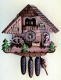 Hekas Black Forest Cuckoo Clock made of linden wood and entirely hand sculpted and painted - Item # for this Hekas Black Forest cuckoo clock: 3695/8