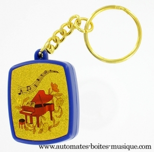 Musical key chain with traditional 18 note miniature musical mechanism - Item# for this musical key chain : PM-0102
