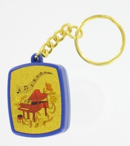 Musical key chain with traditional 18 note miniature musical mechanism - Item# for this musical key chain : PM-0103
