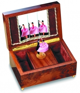 Reuge musical jewelry box with dancing dolls and with traditional 22 note musical mechanism - Item# for this Reuge musical jewelry box with dancing dolls : RXA.22.2322.000