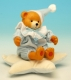 Musical newborn baby automaton made of porcelain with traditional 18 note musical mechanism - Item# for this musical newborn Teddy bear automaton : 20236