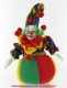 Musical clown automaton with traditional 18 note spring musical mechanism - Item# for this musical automaton : 20266
