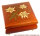 Economical musical jewelry box with transfer printings : square musical jewelry box with flowers.