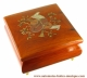 Economical musical jewelry box with transfer printings : square musical jewelry box with musical instruments.