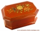 Economical musical jewelry box with transfer printings : octongolar musical jewelry box with flowers.