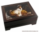 Musical jewelry box with printed photo of a famous painting and traditional 18 note musical mechanism - Item# for this musical jewelry box with printed photo : 89191