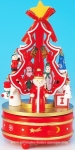 Animated Christmas tree music box with traditional 18 note musical mechanism - Item # for this animated Christmas tree music box : 51095