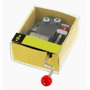 Hand crank music box with traditional hand crank 18 note musical mechanism - Item # for this hand crank music box : GREENSLEEVES