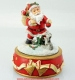 Music box with rotating Santa Claus automaton and traditional 18 note musical mechanism - Item# for this music box with rotating Santa Claus automaton : 50068