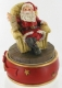 Music box with rotating Santa Claus automaton and traditional 18 note musical mechanism - Item# for this music box with rotating Santa Claus automaton : 54072
