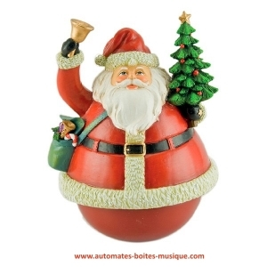 Christmas Musical Roly Poly Toy In The Shape Of Santa Claus