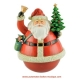 Christmas musical roly-poly toy in the shape of Santa Claus.