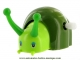 Mechanical automaton animal : green snail made of plastic.