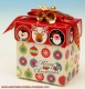"Music box ""gift box"" with Christmas decoration."