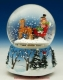 Christmas musical snow globe made of polystone : Scene of sleighs.