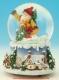 "Christmas musical snow globe made of polystone : musical snow globe ""Santa Claus with snowboard""."