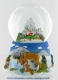 Christmas musical snow globe made of polystone : musical snow globe with a mountainous landscape.