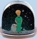 "Trousselier non-musical snow globe with ""The Little Prince"" and his sheep."