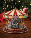 Carrousel musical miniature Mr Christmas avec mécanisme musical électronique - Référence de ce carrousel musical miniature Mr Christmas : 19751
