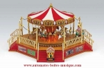 Mr Christmas miniature musical carousel : musical carousel with gallery, horses and zebras.