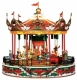 Mr Christmas miniature musical carousel made of wood and resin with high quality electronic musical mechanism - Item # for this Mr Christmas miniature musical carousel : 19838