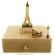 High-quality animated music box made of wood : Wooderful life music box with Eiffel Tower and plane.