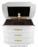 Musical jewelry box made of wood with dancing ballerina and traditional 18 note musical mechanism - Item # for this musical jewelry box : 25120 bis-ANASTASIA