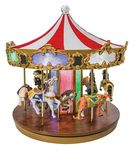 Carrousel musical miniature Mr Christmas avec mécanisme musical électronique - Référence de ce carrousel musical miniature Mr Christmas : 19980