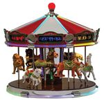 Carrousel musical miniature Mr Christmas avec mécanisme musical électronique - Référence de ce carrousel musical miniature Mr Christmas : 79789